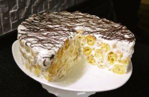 Вкусный торт из заварных эклеров