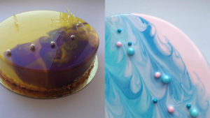 Узоры на готовом торте