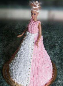Торт Принцесса с куклой Барби готов