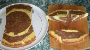 Разделка бисквита на правильные части
