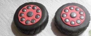 Декорированные съедобные колесики для машинки