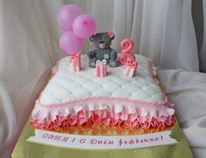 Готовый торт Подушка с мишкой Тедди