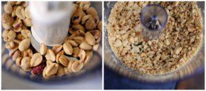 Измельчение поджаренного арахиса