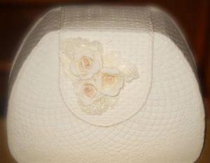 Декорируем язычок сумки