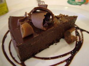 Кусочек шоколадного трюфельного торта