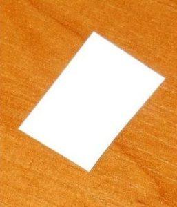 Отрезок обычного листа бумаги