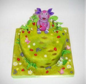 Готовый торт: Лунтик на земляничной поляне