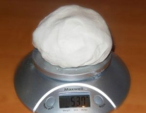 Готовая мастика: получившийся вес из представленных продуктов
