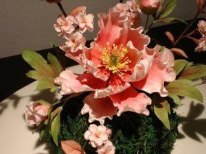 Шикарный букетик из цветочной мастики на желатине