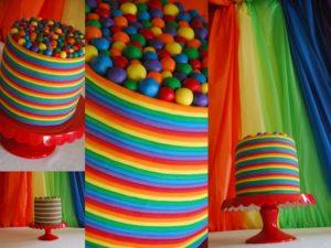 Яркие краски десерта с пищевыми красителями