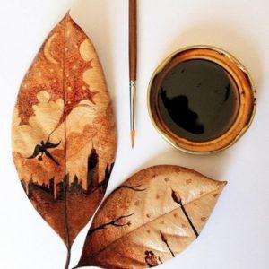 Кофе не только окрашивают десерты, но еще и рисуют