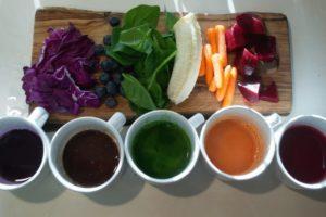Примеры продуктов для добывания пищевых красителей для десертов