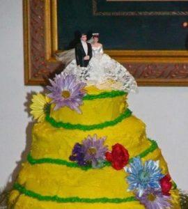 Некорректное украшение и сборка торта