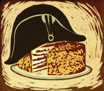 """Карикатура на знаменитый одноименный торт """"Наполеон"""""""