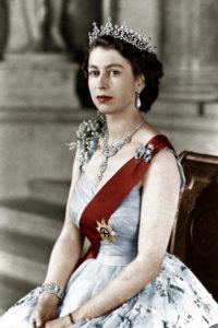 Королева Елизавета ІІ в молодости