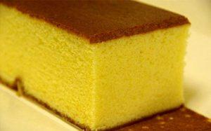 Масляный золотистый бисквит с белым шоколадом