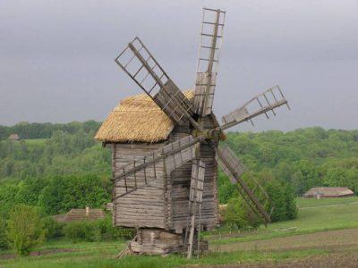 Простая ветровая мельница