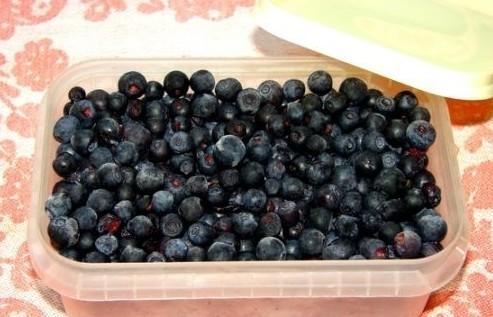 Замороженные плоды черники