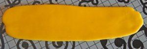 Раскатанная цветная мастика для одежды игрушки