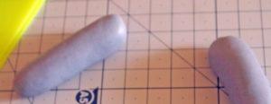 Верхние ручки-лапки из мастики