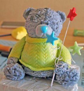 Готовое украшение для десерта мишка Тедди