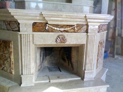 Отделка камина из мрамора: природного многоликого материала