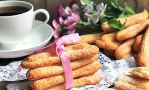 Готовое рассыпчатое бисквитное печенье Савоярди