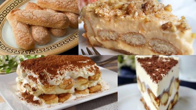 Готовые десерты с печеньем Савоярди