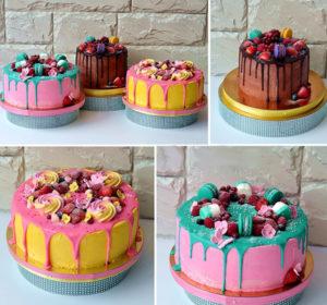 Яркие готовые торты