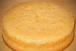 Пышный простой бисквит для торта
