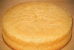 Готовый бисквит простого приготовления