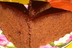Готовый простой шоколадный бисквит