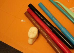 Заготовка головы с лицом из мастики