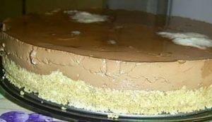 Готовый шоколадно-банановый торт, не требующий выпекания