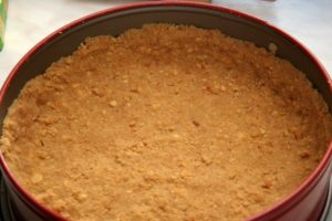 Основание торта из печенья в форме