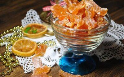 Готовые цукаты из тыквы