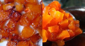 Карамелизированные кусочки тыквы